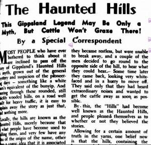 hauntedhillsarticleargus1947