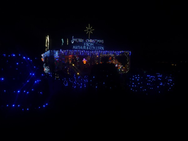 Christmas lights, Yallourn North, Latrobe Valley, Gippsland
