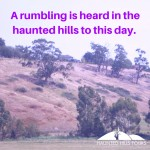 The Haunted Hills is covered on the Yallourn North Ghost Tour