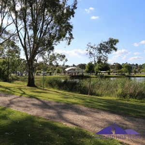 immigration-port-at-gippsland-immigration-park-kernot-lake-in-the-foreground gippsland immigration park - kernot lake